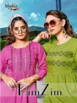 MANAS RIMZIM VISCOUS RAYON EMBROIDERY EXOTIC FANCY CLASSY TOP