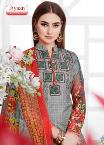 JIYAAN KARACHI COTTON DRESS MATERIAL KARACHI SUITS