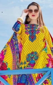 MEHNOOR KARACHI  COTTON PRINTED DRESS MATERIAL KARACHI SUITS