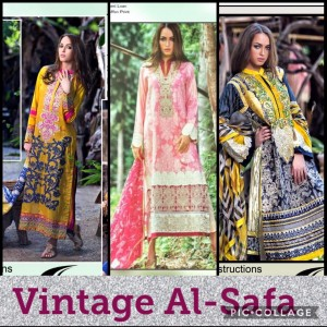 AL-SAFA VINTAGE PAKISTANI DRESS MATERIAL AT BEST PRICE PAKISTANI SUITS