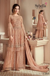 SYBELLA CREATIONS THE ROYAL SHADES  EMBROIDERY FABRICS BUY ONLINE WHOLESALE SALWAR KAMEEZ