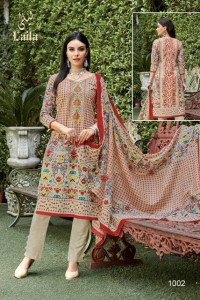 LAILA KARACHI I PRINTED LAWN COTTON COLLECTION KARACHI SUITS