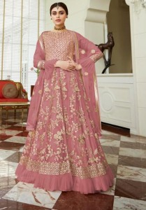 AASHIRWAD CREATION CELEBRATION GOLD ANARKALI SUITS