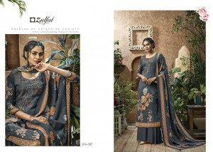 ZULFAT DESIGNER SUITS HEENAZ PASHMINA EXCLUSIVE PRINT SALWAR SUIT CATALOG