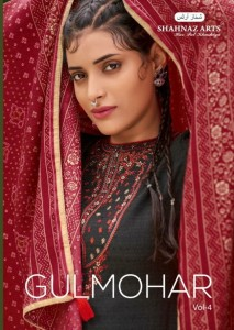 SHAHNAZ ARTS GULMOHAR VOL 4 PASMINA PRINT WITH DECENT EMBROIDARY LOOK SALWAR SUIT CATALOG