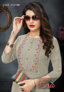 PINK MIRROR IRA VISCOSE NEW AND MORDERN STYLE KURTI WITH PANT CATALOG