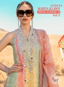 SHREE FABS MARIYA B LAWN SPRING 20 VOL 2 SUPER NX PAKISTANI DRESS MATERIAL CATALOG