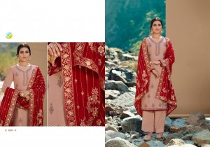 VINAY FASHION KASEESH LAUNCHED ESTEEM SATIN GEORGETTE WITH SWAROVSKI WORK SALWAR KAMEEZ