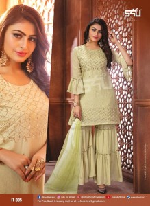 S4U BY SHIVALI PRESENTS INAYAT FANCY BRANDED EXCLUSIVE SHARARA STYLE SUITS BEAUTIFUL COLLECTIONS