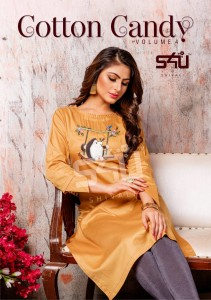 S4U BY SHIVALI LAUNCHES COTTON CANDY VOL 4 DESIGNER TEENWEAR FANCY KURTI COLLECTION