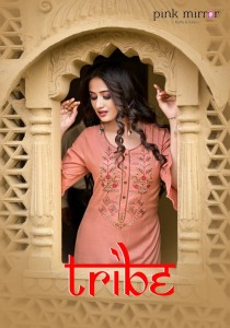 PINK MIRROR PRESENTS TRIBE VISCOS ELEGANT KURTI WITH PANT CATALOG