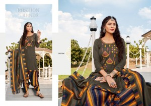 KAY VEE SUITS LAUNCHES NAAZ E PATIYALA PASHMINA PUNJABI DRESS MATERIALS
