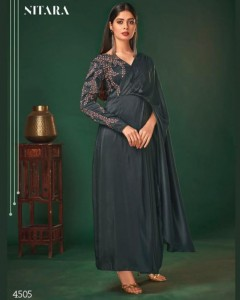 NITARA LAUNCH NYX VARIETY OF ART SILK INNOVATIVE STYLE EVENING GOWN CATALOG WHOLESALER