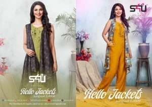 S4U BY SHIVALI LAUNCHED HELLO JACKETS JUMPSUIT EDITION EDITION RAYON WESTERN LOOK JACKETS JUMPSUIT CATALOG