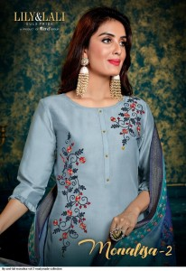 LILY AND LALI MONALISA VOL 2 BEMBERG SILK WITH EMBROIDERY READYMADE SALWAR SUIT