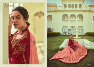 PANGHAT VOL 8 BY AMYRA DESIGNER GEORGETTE WITH EXCLUSIVE EMBROIDERY WORK LEHENGA STYLE SUITS