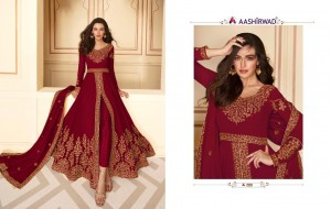 AASHIRWAD PAAKHI REAL GEORGETTE DESIGNER PARTY AND WEDDING WEAR LONG SALWAR SUITS