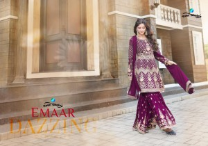 YOUR CHOICE PRESENTS EMAAR GEORGETTE BRIDAL LOOK SHARARA CONCEPT DESIGNER SALWAR SUITS