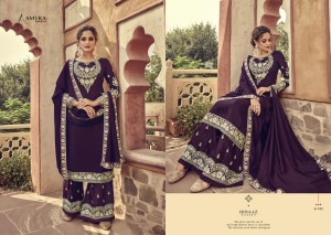 AMYRA DESIGNER PRESENTS HINAAZ VISCOSE UPADA EMBROIDERY WITH MIRROR WORK SALWAR SUITS WHOLESALE RATE SURAT