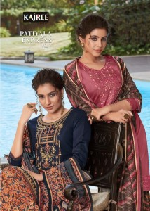 KAJREE FASHION LAUNCHED PATIYALA EXPREES VOL 7 JAM SILK WITH EMBROIDERY WORK SALWAR SUITS WHOLESALE CATALOGUE