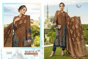 SHREE FABS PRESENTS MARIYA B LAWN COLLECTION VOL 5 NX PURE JAM COTTON WITH EMBROIDERY PAKISTANI SUIT WHOLESALER