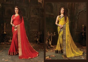 RONITA BY SAROJ LATEST CHARMING LOOK WEIGHTLESS WITH BEAUTIFUL BORDER SYNTHETIC SAREE
