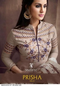 SAJAWAT PRISHA VOL 1 HEAVY MASLIN SILK READYMADE SALWAR KAMEEZ ONLINE SUPPLIER