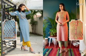 100 MILES GLARE COTTON AUTHENTIC FABRIC KURTI WITH COMBO PANT CATALOGUE