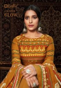 ZULFAT DESIGNER SUITS LAUNCHED WINTER GLOW PURE PASHMINA DIGITAL PRINT SALWAR KAMEEZ WHOLESALE CATALOGUE