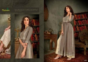 MAISHA MASKEEN PRESENT NAZNEEN RAYON HANDWORK READYMADE TOP WITH BOTTOM WHOLESALER