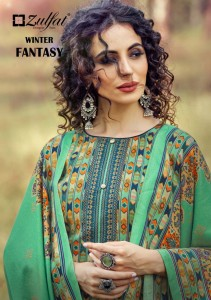 ZULFAT DESIGNER SUIT PRESENTS WINTER FANTASY VOL 4 PURE PASHMINA DIGITAL PRINT SALWAR KAMEEZ WHOLESALE CATALOGUE