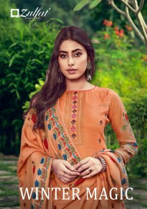 ZULFAT DESIGNER SUIT LAUNCHED WINTER MAGIC VOL 6 PURE PASHMINA DIGITAL PRINT SALWAR KAMEEZ WHOLESALE CATALOGUE