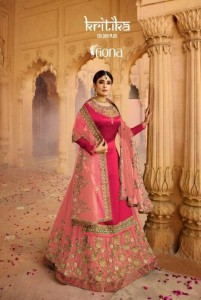 KRITIKA COLOUR PLUS VOL 3 BY FIONA SATIN GEORGETTE DESIGNER PARTY AND WEDDING WEAR LEHENGA PANT SUITS