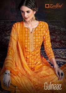 ZULFAT DESIGNER SUITS LAUNCHED GULNAAZ PURE COTTON DIGITAL STYLE PRINT SALWAR KAMEEZ WHOLESALE CATALOGUE