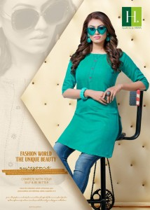 BLUE STAR VOL 2 BY HIRWA RAYON SHORT LENGHT KURTI FOR COMFORT WEAR COLLECTION