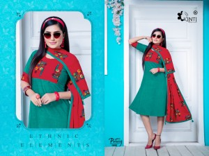 KINTI PATANG VOL 16 RAYON COMFORT WEAR CASUAL KURTI WITH STOLES FOR GIRLS COLLECTIONS