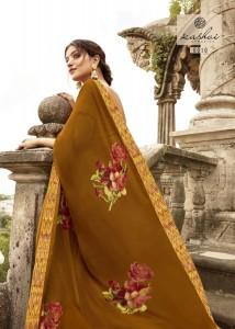 SANSKRIT BY KASHVI CREATION WEIGHTLESS BORDER CASUAL WEAR SAREE CATALOGUE WITH FANCY MASK TRADER