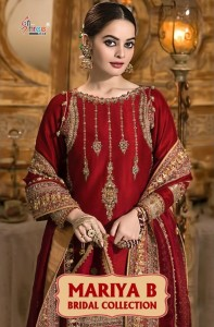 SHREE FABS PRESENTS MARIYA B BRIDAL COLLECTION HEAVY GEORGETTE WITH EMBROIDERY WORK PAKISATNI SUIT WHOLESALE CATALOGUE