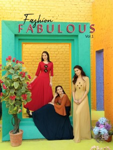 ARADHANA FASHION FABULOUS VOL 1 CLASSY LOOK LONG GOWN STYLE RAYON EMBROIDERY WORK KURTIS WHOLESALE CATALOGUE