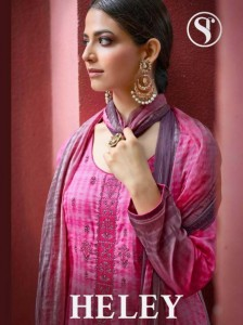 SWEETY FASHION LAUNCHED HELEY PURE SATIN WITH THREAD WORK SALWAR KAMEEZ WHOLESALE CATALOGUE DEALER