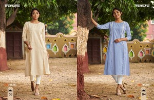 100 MILES TREASURE LINEN COTTON CASUAL WEAR KURTI WHOLESALE CATALOGUE