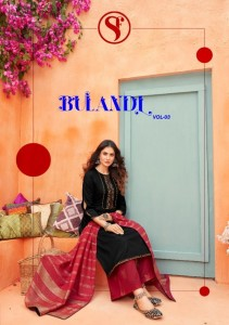 SWEETY FASHION PRESENTS BULANDI VOL 3 JAMCORD WITH WORK SALWAR SUITS WHOLESALE CATALOGUE