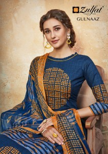 ZULFAT DESIGNER SUITS PRESENTS GULNAAZ PURE COTTON DIGITAL PRINT SALWAR SUITS WHHOLESALE CATALOGUE