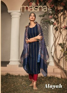 MAISHA LAUNCHED ALAYAH PURE RAYON WITH EMBROIDERY WORK READYMADE SALWAR SUITS WHOLESALE CATALOGUE