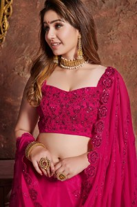 TEXTILE EXPO 7304 GEORGETTE PARTY WEAR LEHENGA CHOLI COLLECTIONS AT AFFORDABLE PRICE