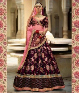 TEXTILE EXPO 7034 PURPLE BRIDAL LEHENGA CHOLI COLLECTION AT BEST RATE