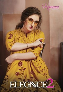 KANASU LAUNCHED ELEGANCE VOL 2 RAYON GOLD PRINT LONG TYPE FANCY DESIGNER KURTIS WHOLESALE CATALOGUE