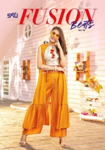 S4U BY SHIVALI FUSION BEATS VOL 4 RAYON STYLISH LONG SUITS WITH LONG JACKET CLASSY LOOK COLLECTION AT WHOLESALE RATE