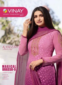 VINAY KASEESH LAUNCHED MAGICAL BRASSO 9 BRASSO WITH EMBROIDERY WORK SALWAR SUITS WHOLESALE CATALOGUE