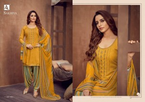 ALOK SUIT LAUNCHED SAKHIYA PURE VISCOSE RAYON PRINT WITH NECK EMBROIDERY WORK SALWAR SUITS WHOLESALE CATALOGUE